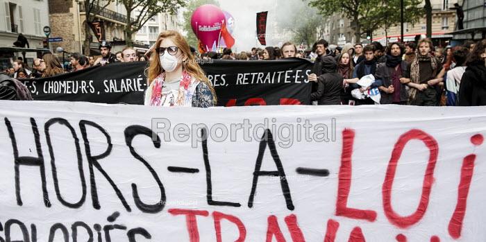 Protests against proposed labor reforms, France - Nicolas Tavernier - 2016-05-12