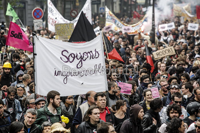 Lets be ungovernable, Union protest against proposed labor reforms, France - Nicolas Tavernier - 2016-05-26
