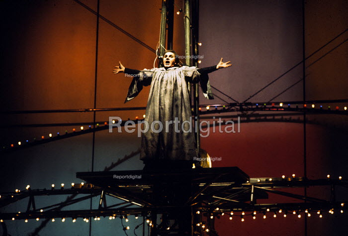 Taverner, Opera with music and libretto by Peter Maxwell Davies, Stage Design by Ralph Koltai, Royal Opera House, London, 1972. Based on the life of the 16th-century English composer John Taverner - Chris Morris - 1972-07-10