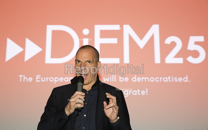 Yanis Varoufakis speaking about DiEM25. Another Europe is Possible conference, Vote In campaign. UCL Institute of Education. London. - Jess Hurd - 2016-05-28