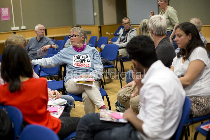 Another Europe is Possible conference, Vote In campaign. Referendum on European membership. UCL Institute of Education. London. Group discussion - Jess Hurd - 2016-05-28