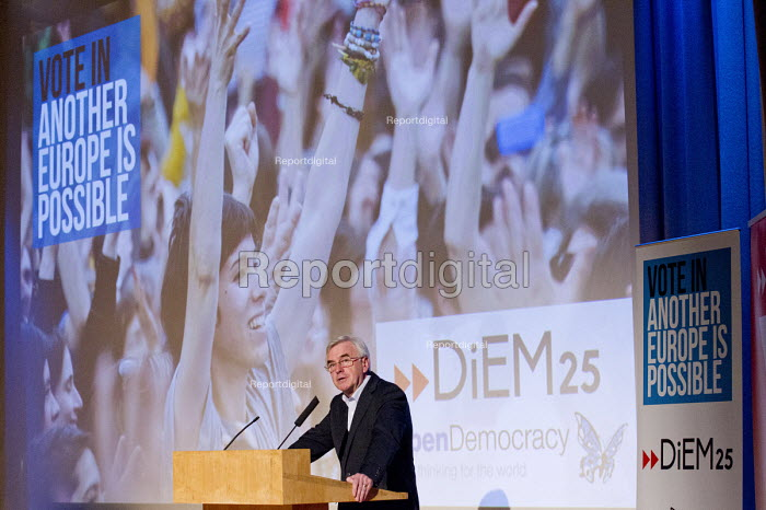 John McDonnell MP speaking at Another Europe is Possible conference, Vote In campaign. UCL Institute of Education. London. - Jess Hurd - 2016-05-28