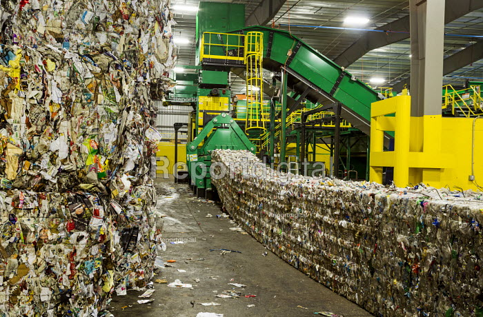 Southfield, Michigan, ReCommunity materials recovery facility, where recyclable materials are sorted and baled - Jim West - 2016-03-31