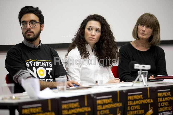 Gareth Peirce, solicitor and Malia Bouattia, Black Students Campaign, Prevent, Islamophobia and Civil Liberties Conference, Goldsmiths College, London - Jess Hurd - 2016-06-04