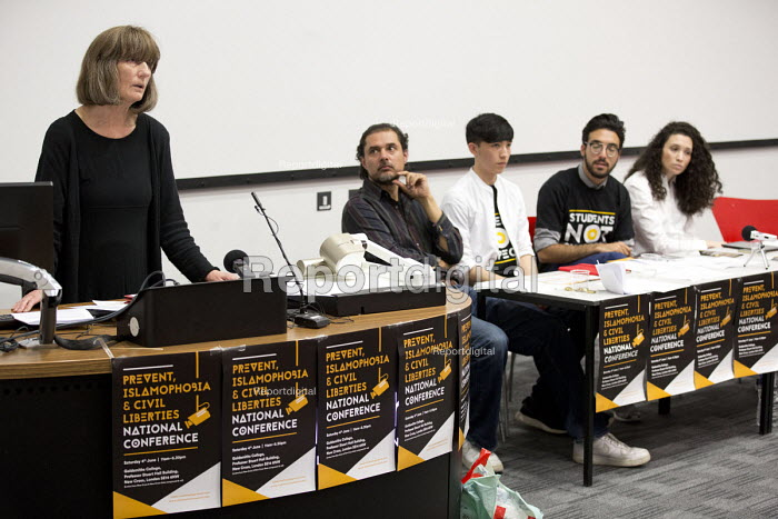 Gareth Peirce human rights lawyer speaking, Prevent, Islamophobia and Civil Liberties Conference, Goldsmiths College, London - Jess Hurd - 2016-06-04