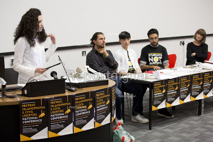 Malia Bouattia, Black Students Campaign, Prevent, Islamophobia and Civil Liberties Conference. Goldsmiths College, London. - Jess Hurd - 2016-06-04