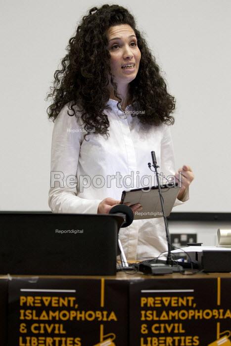 Malia Bouattia, Black Students Campaign, Prevent, Islamophobia and Civil Liberties Conference. Goldsmiths College, London. - Jess Hurd - 2016-06-04
