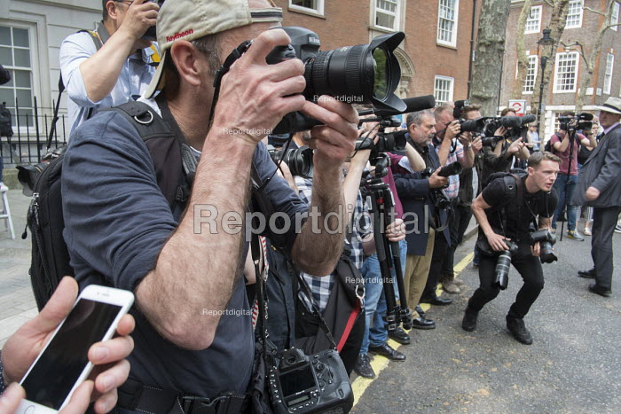 Photographers at a photocall. Launch of EU Referendum campaign poster, London - Philip Wolmuth - 2016-06-07