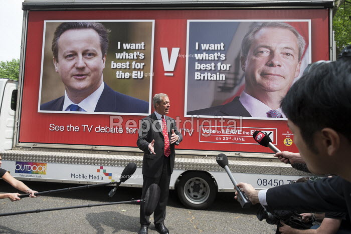 UKIP leader Nigel Farage launches new EU Referendum campaign poster, London - Philip Wolmuth - 2016-06-07