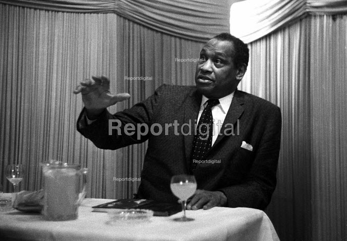 Black American singer and activist Paul Robeson visiting London, 1958 - Alan Vines - 1958-07-16