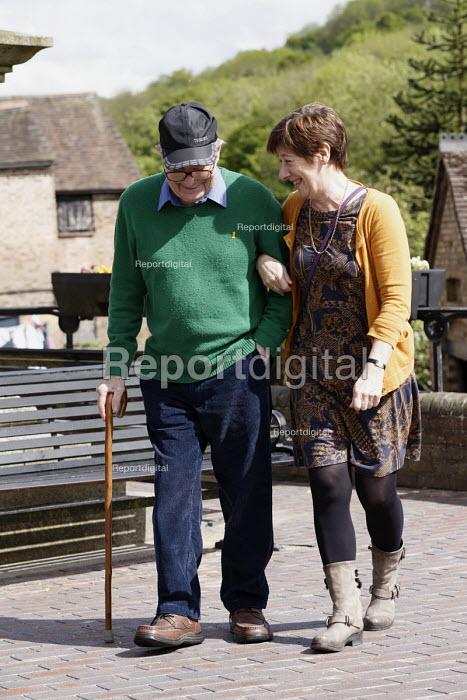 Caring for the elderly, Sunday day out Ironbridge, Shropshire - John Harris - 2016-05-22