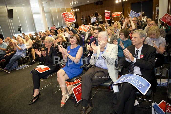 Jeremy Corbyn with health workers at TUC NHS safer in the EU rally. Congress House, London. - Jess Hurd - 2016-06-14