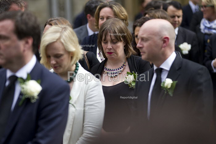 Jo Cox murder. Jess Phillips and other MPs attending a service remembering murdered Labour MP Jo Cox, St Margaret's Church London - Jess Hurd - 2016-06-20