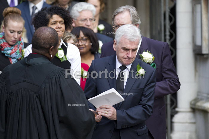 Jo Cox murder. John McDonnell, MPs attending a service remembering murdered Labour MP Jo Cox, St Margaret's Church London - Jess Hurd - 2016-06-20
