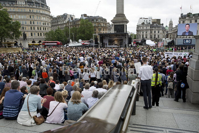 Brendan Cox speaking at a memorial event for wife and murdered Labour MP, Jo Cox. Love Like Jo Trafalgar Square, London - Jess Hurd - 2016-06-22