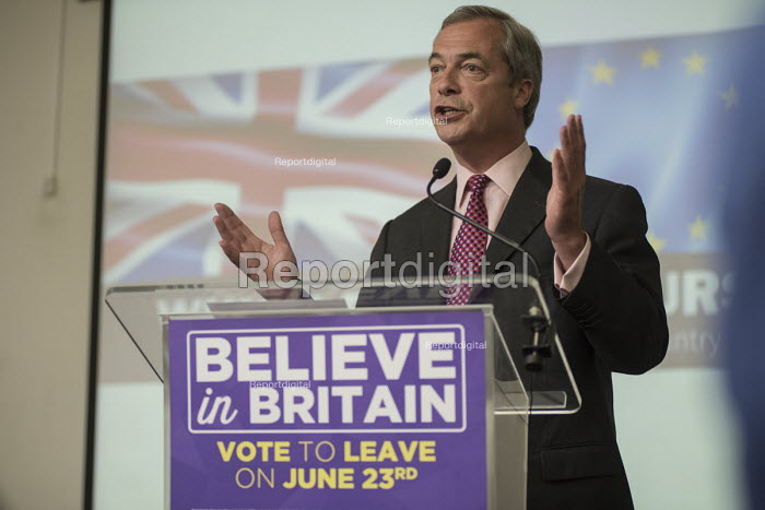 Nigel Farage. UKIP EU referendum press conference, London. - Philip Wolmuth - 2016-06-22