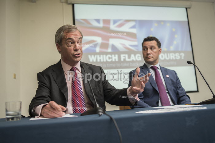 Nigel Farage and MEP Steven Woolfe. UKIP EU referendum press conference, London. - Philip Wolmuth - 2016-06-22
