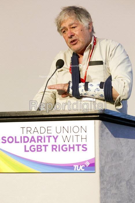 Guy Thornton, NUJ delegate speaking TUC LGBT Conference, Congress House, London. - Jess Hurd - 2016-06-23