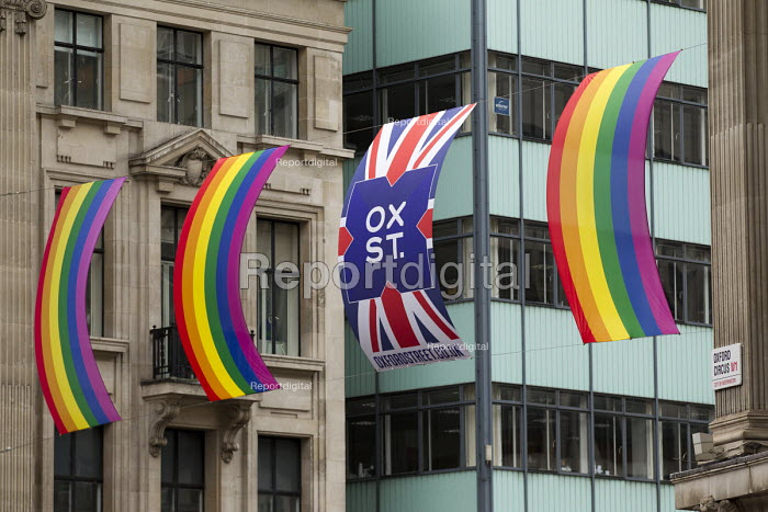 Oxford Street rainbow banners, Pride in London Parade 2016 - Jess Hurd - 2016-06-25