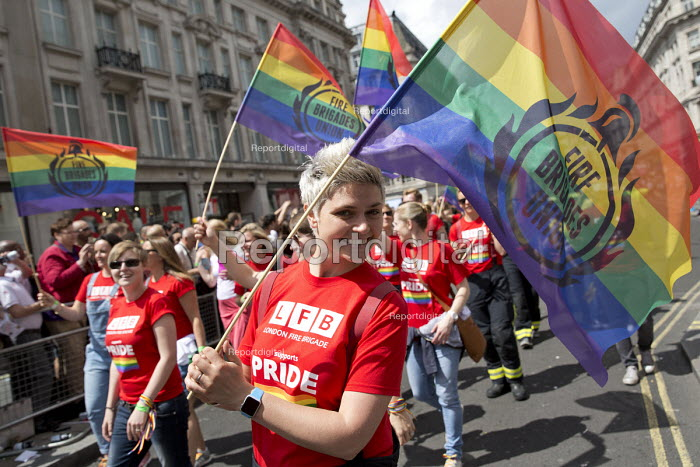 LFB London Firefighters and FBU at Pride in London Parade 2016 - Jess Hurd - 2016-06-25