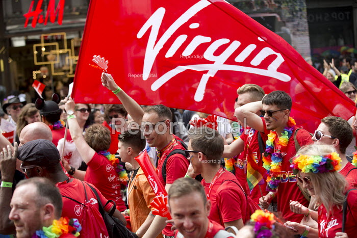 Virgin employees, Pride in London Parade 2016 - Jess Hurd - 2016-06-25