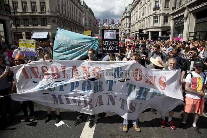 Lesbians and Gays Support the Migrants, Pride in London Parade 2016 - Jess Hurd - 2016-06-25