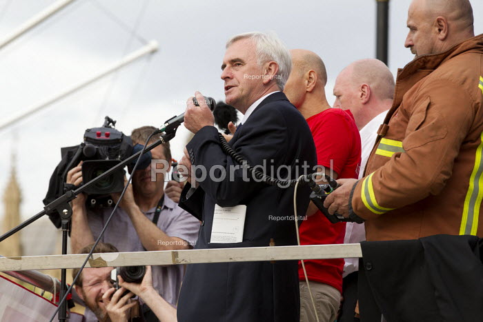 John McDonnell Keep Corbyn, Build Our Movement rally against Blairite leadership challenge Parliament Square, Westminster, London - Jess Hurd - 2016-06-27