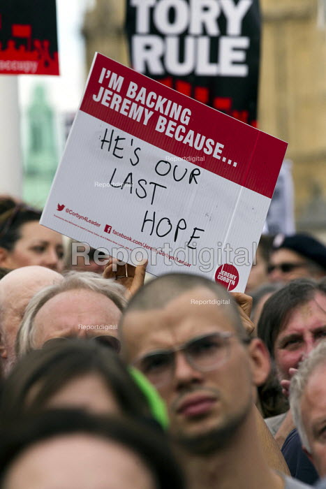 Keep Corbyn, Build Our Movement rally against Blairite leadership challenge Parliament Square, Westminster, London - Jess Hurd - 2016-06-27