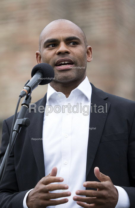 Mayor of Bristol Marvin Rees speaking Pro EU membership demonstration Bristol - Paul Box - 2016-06-28