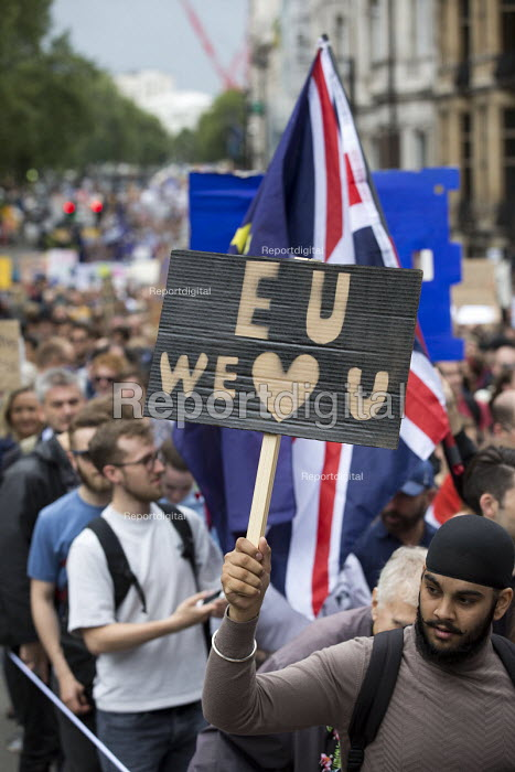 We're in a March for Europe against the Brexit EU referendum result, Central London, EU we love you - Jess Hurd - 2016-07-02