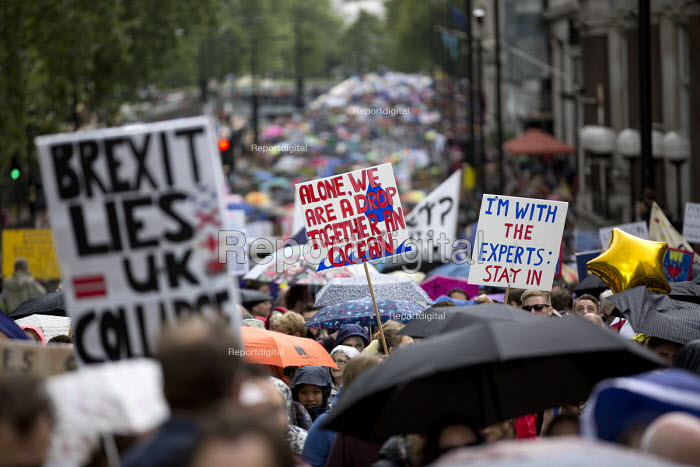 March for Europe against the Brexit EU referendum result, Central London, I'm with the experts stay in - Jess Hurd - 2016-07-02