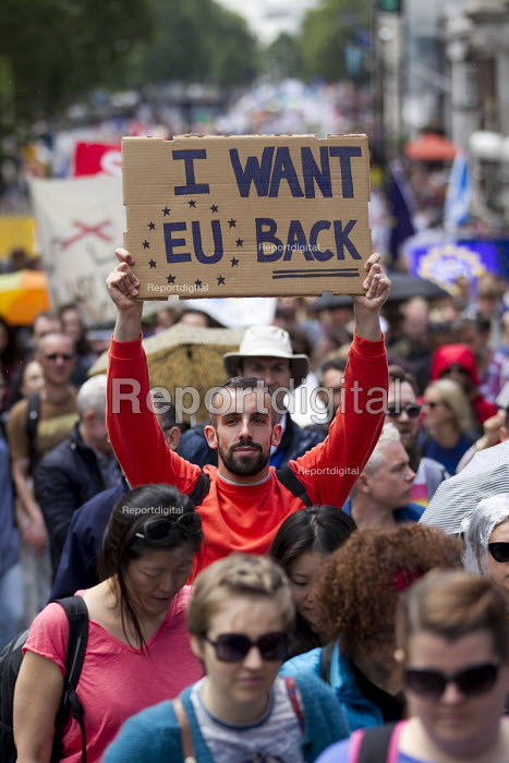 March for Europe against the Brexit EU referendum result, Central London, I want EU back - Jess Hurd - 2016-07-02
