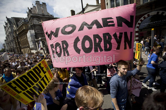 Women For Corbyn, March for Europe against the Brexit EU referendum result, Central London - Jess Hurd - 2016-07-02