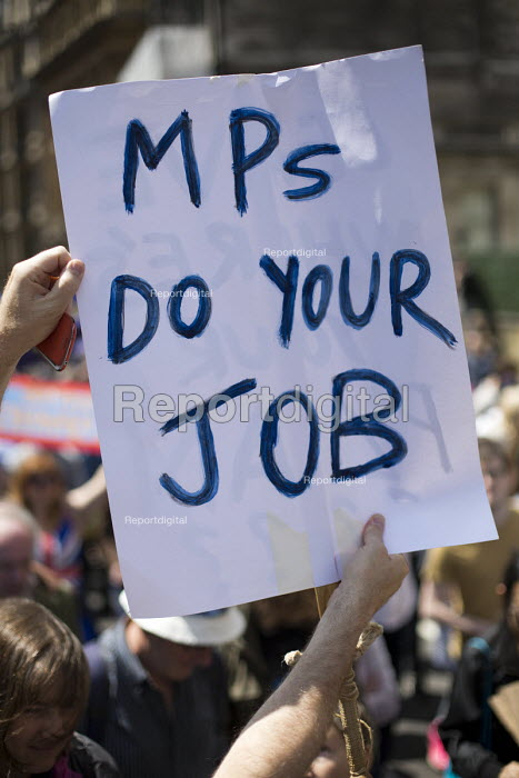 March for Europe against the Brexit EU referendum result, Central London, MPs do your job - Jess Hurd - 2016-07-02