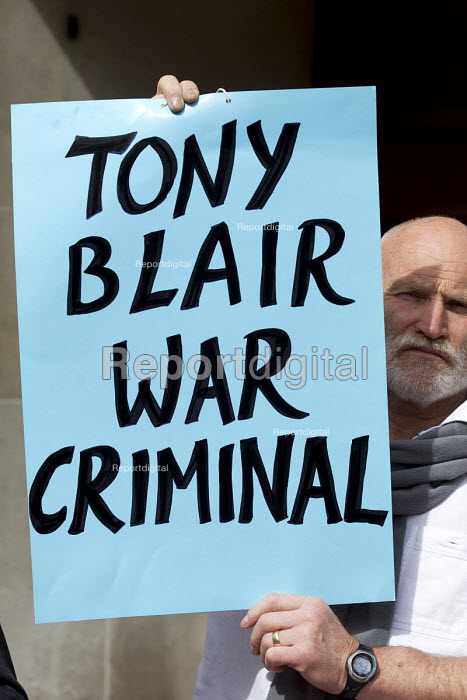 Stop the War protest on publication of the Chilcot Report on the Iraq war, QEII Centre, London, Tony Blair War Criminal - Jess Hurd - 2016-07-06