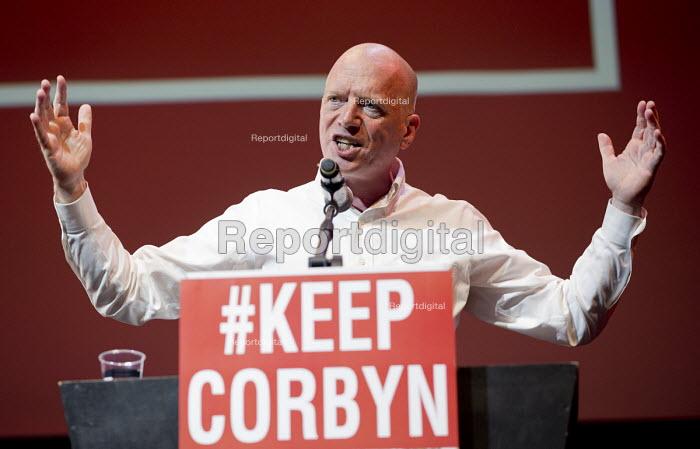 Matt Wrack, FBU speaking at a Momentum, KeepCorbyn Labour Party rally for Jeremy Corbyn, Troxy, East London. - Jess Hurd - 2016-07-06