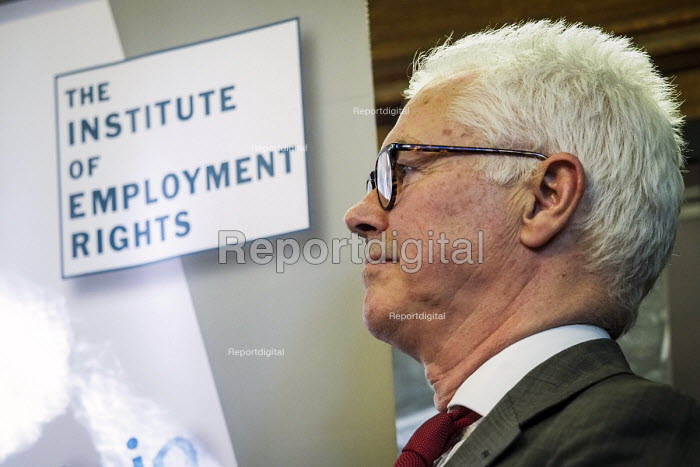 Durham Miners Gala 2016. John Hendy QC, Chair of the Institute of Employment Rights at an eve of gala public meeting at Redhills, the HQ of Durham area NUM, Durham City, Co Durham - Mark Pinder - 2016-07-08