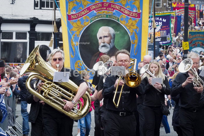 Durham Miners Gala 2016 Co Durham Brass bands and banners - Mark Pinder - 2016-07-09