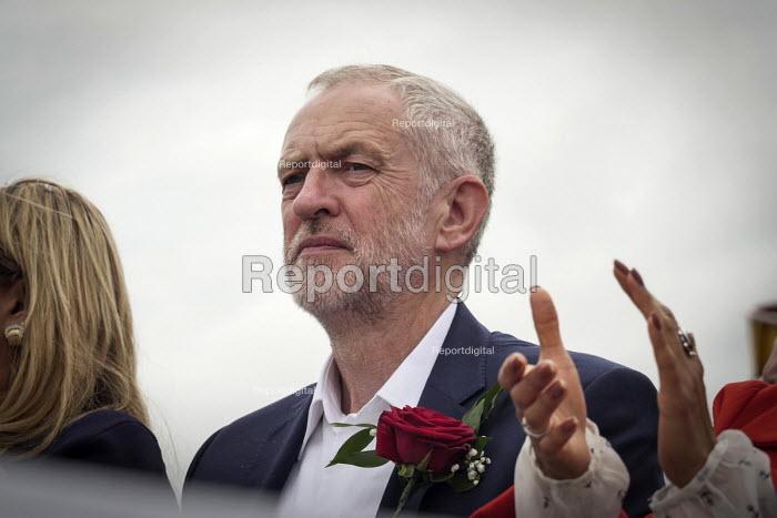 Jeremy Corbyn speaking, Durham Miners Gala 2016, Co Durham - Mark Pinder - 2016-07-09