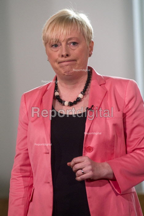 Angela Eagle Labour Party launching her leadership bid. Angela Eagle, Labour MP for Wallasey, at a press conference launching her bid to become Leader of the Labour Party, London, 2016 - Stefano Cagnoni - 2016-07-11