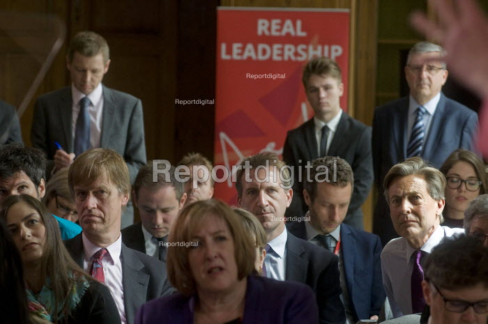 Angela Eagle Labour Party launching her leadership bid. Dan Jarvis MP (C) a potential Labour Leader himself, watching from the shadows. - Stefano Cagnoni - 2016-07-11