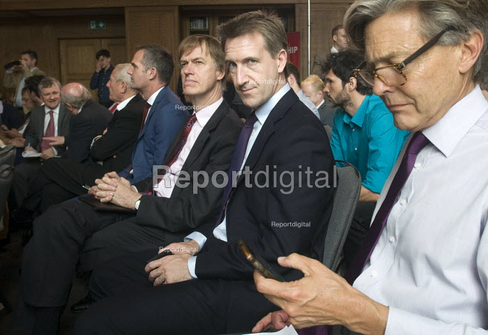 Angela Eagle Labour Party launching her leadership bid. Labour MPs, Ben Bradshaw (R) Dan Jarvis and Stephen Timms watching from the side. - Stefano Cagnoni - 2016-07-11