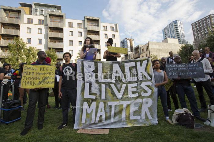 Malia Bouattia NUS speaking, Black Lives Matter Shutdown, Altab Ali Park, Tower Hamlets, London - Jess Hurd - 2016-08-05