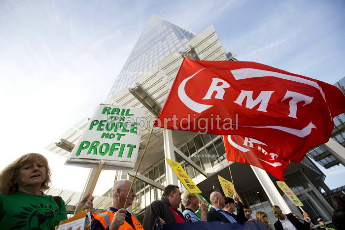 Action For Rail protest against rail fare rises and calling for public ownership, London Bridge Station, London - Jess Hurd - 2016-08-16