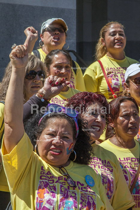Sacramento, USA, Domestic workers protest for a permanent Domestic Workers Bill of Rights - David Bacon - 2016-08-03
