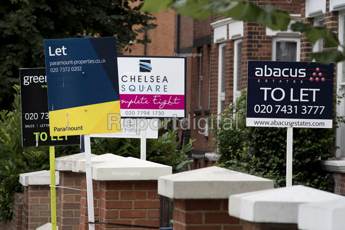Estate agent boards, Cricklewood, London - Philip Wolmuth - 2016-08-03