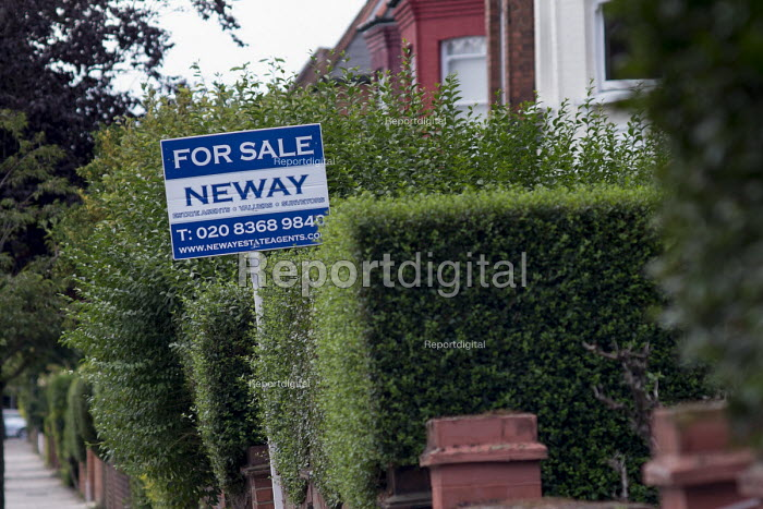 Estate agent boards, Cricklewood, London. - Philip Wolmuth - 2016-08-03