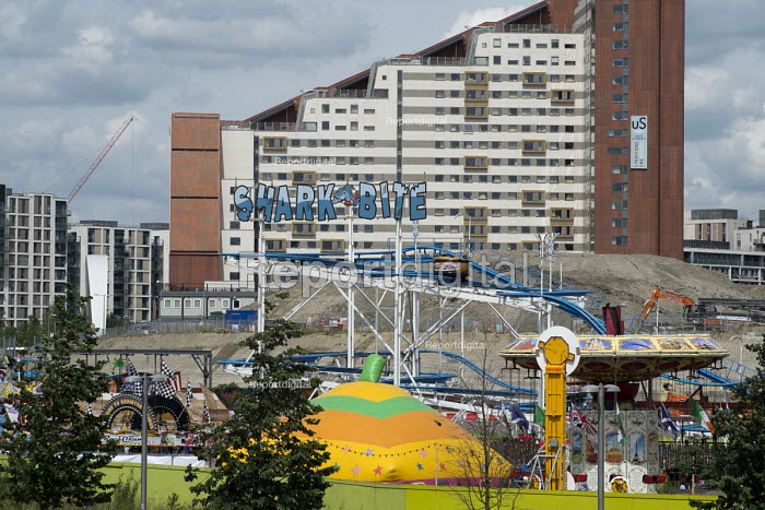 Student housing and privately rented apartment blocks on the site of the London 2012 Olympic Village. Student room rents start at �212 a week, Olympic Park, London. - Philip Wolmuth - 2016-08-05