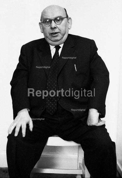 Austrian Composer Hanns Eisler 1959, composer of the GDR National Anthem and a long time musical and political associate of Bertolt Brecht, London - Alan Vines - 1959-11-26