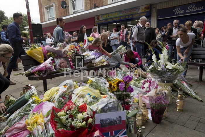 Hundreds marching silently to remember murdered Polish man Arek Jozwik, Harlow UK - Jess Hurd - 2016-09-03